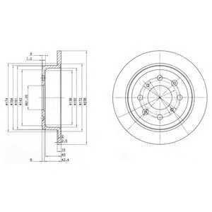 DELPHI BG2538 Гальмівний диск