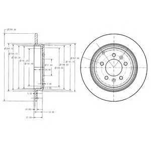 DELPHI BG2573 Гальмівний диск