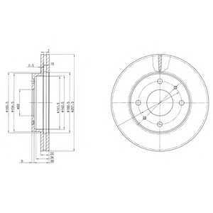 DELPHI BG2657 Тормозной диск