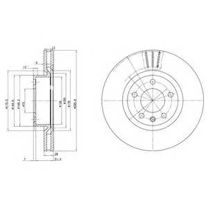 DELPHI BG2742 Тормозной диск Опель Омега