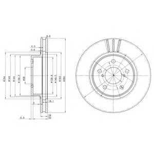 DELPHI BG2767 Гальмівний диск