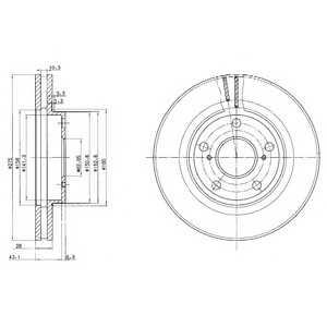 DELPHI BG2782 Гальмівний диск