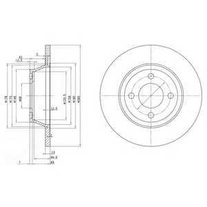 DELPHI BG2783 Гальмівний диск