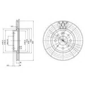 DELPHI BG2830 Тормозной диск Фиат Страда