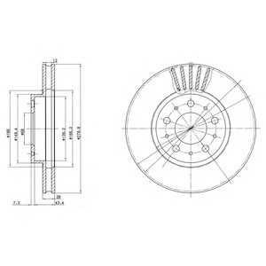 DELPHI BG2841 Гальмівний диск