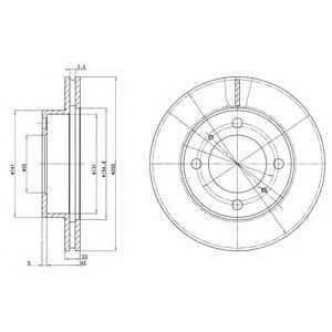 DELPHI BG2891 Тормозной диск