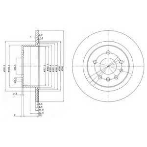 DELPHI BG2986 Гальмівний диск