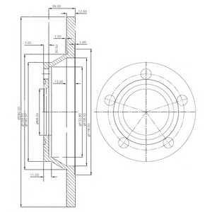 DELPHI BG2987 Гальмівний диск