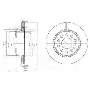 DELPHI BG3029 Тормозной диск Ауди В8