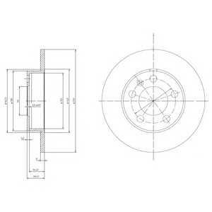DELPHI BG3034 Гальмівний диск