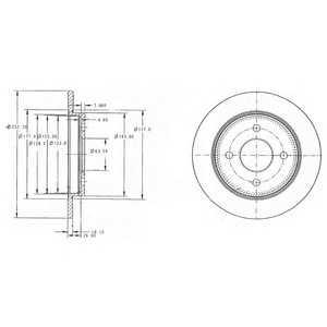 DELPHI BG3054 Гальмівний диск