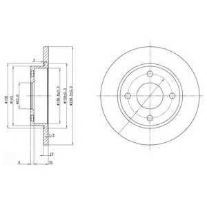 DELPHI BG3055 Тормозной диск