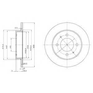 DELPHI BG3070 Тормозной диск