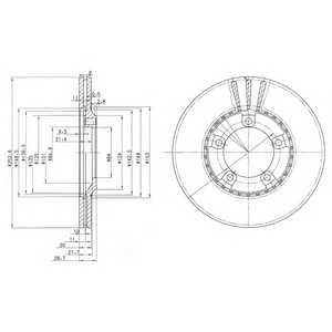 DELPHI BG3071 Тормозной диск Хюндай Н100