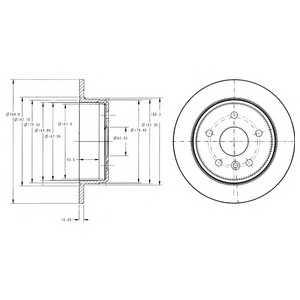 DELPHI BG3178 Тормозной диск