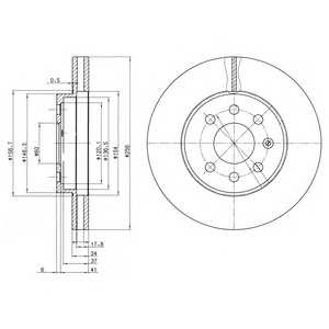 DELPHI BG3334 Тормозной диск