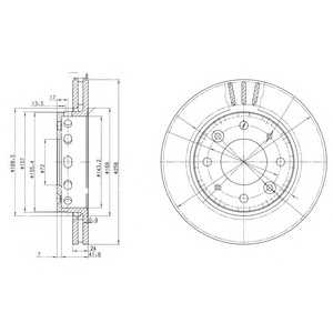 DELPHI BG3335 Тормозной диск