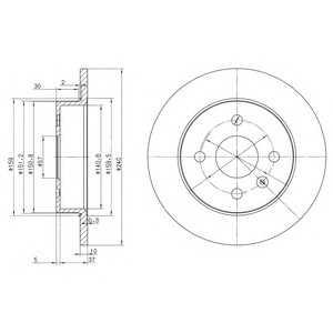 DELPHI BG3403 Гальмівний диск