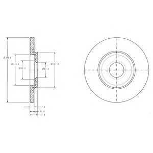DELPHI BG3421 Гальмівний диск