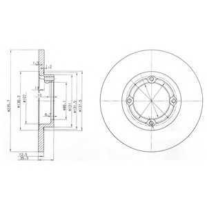 DELPHI BG3551 Тормозной диск Шевроле Матиз