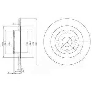 DELPHI BG3556 Тормозной диск