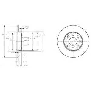 DELPHI BG3567 Тормозной диск
