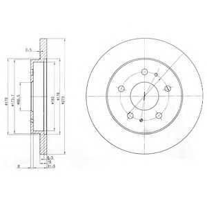 DELPHI BG3607 Тормозной диск Дайхатсу Териос