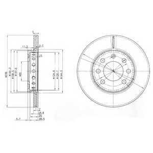 DELPHI BG3658 Тормозной диск