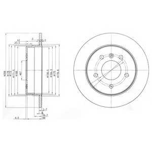 DELPHI BG3710 Тормозной диск