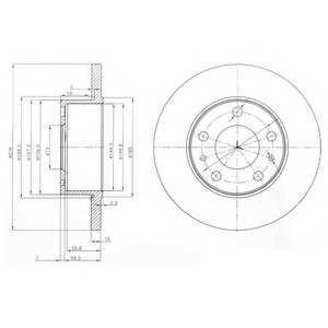 DELPHI BG3751 Тормозной диск