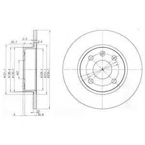 DELPHI BG3771 Тормозной диск