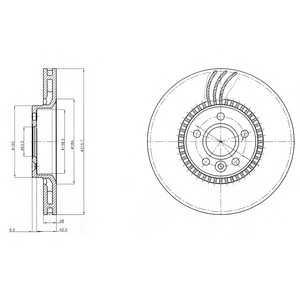 DELPHI BG3784 Тормозной диск