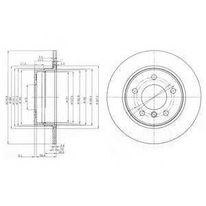 DELPHI BG3948 Гальмівний диск