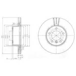 DELPHI BG3998 Гальмівний диск