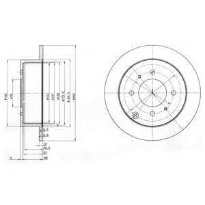 DELPHI BG4010 Гальмівний диск