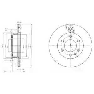 DELPHI BG4032 Тормозной диск Мерседес Спринтер 3,5Т