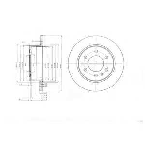 DELPHI BG4033 Тормозной диск Мерседес Спринтер 3,5Т