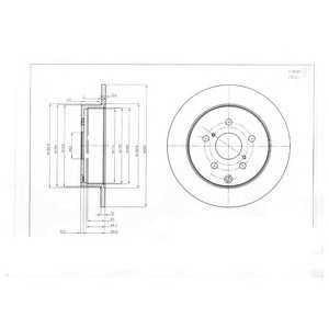 DELPHI BG4051 Тормозной диск