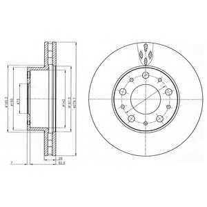 DELPHI BG4059 Гальмівний диск