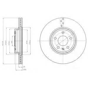 DELPHI BG4079 Тормозной диск Додж Стратус