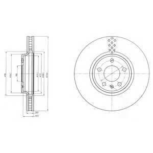 DELPHI BG4080 Тормозной диск Додж Стратус
