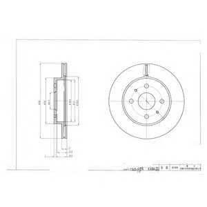 DELPHI BG4128 Тормозной диск Дайхатсу