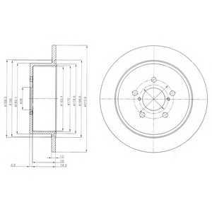 DELPHI BG4129 Гальмівний диск