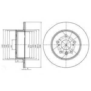 DELPHI BG4156 Тормозной диск