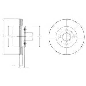 DELPHI BG4213 Тормозной диск Дайхатсу