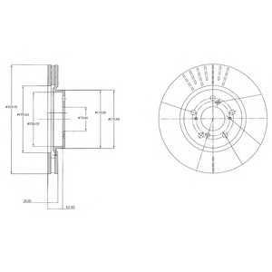 DELPHI BG4215 Тормозной диск Хонда