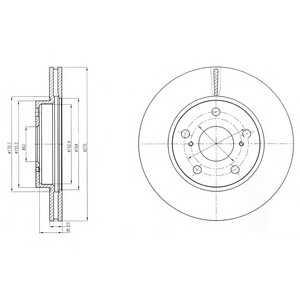 DELPHI BG4232 Гальмівний диск