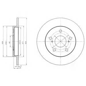 DELPHI BG4233 Гальмівний диск