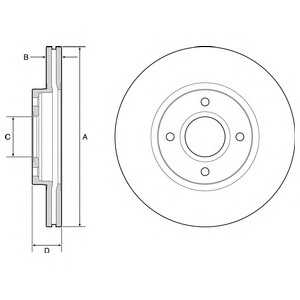 DELPHI BG4569 Тормозной диск Форд Б-Макс