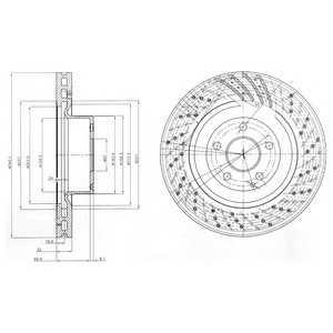 DELPHI BG9754 Тормозной диск